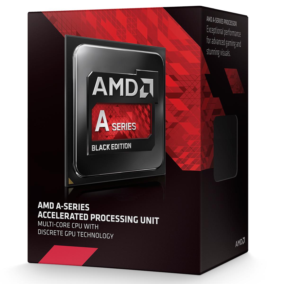 Processeur AMD A10-7870K (3.9 GHz) Black Low Noise Edition Processeur Quad Core socket FM2+ Cache L2 4 Mo Radeon R7 0.028 micron + ventilateur silencieux (version boîte - garantie constructeur 3 ans)