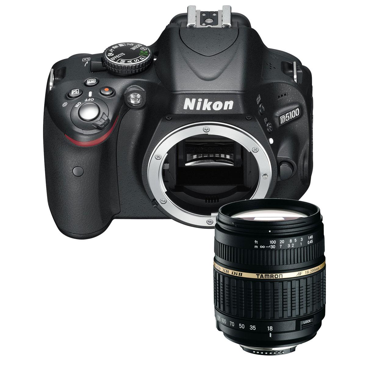 Nikon D5100 Tamron Af 18 200mm F 35 63 Xr Di Ii Ld Asl If For Vc Appareil Photo Reflex