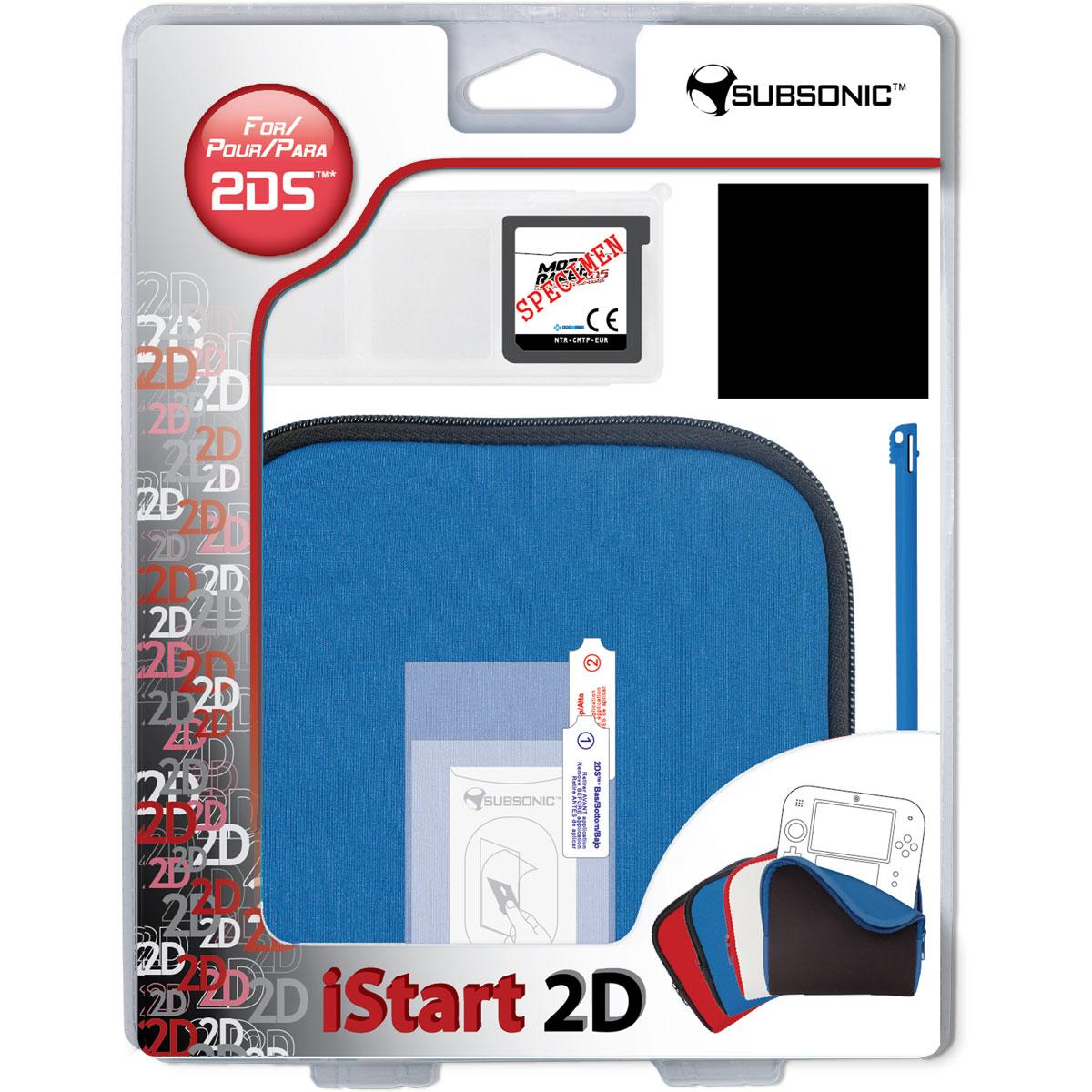 subsonic istart 2d bleu nintendo 2ds accessoires ds et 3ds subsonic sur. Black Bedroom Furniture Sets. Home Design Ideas