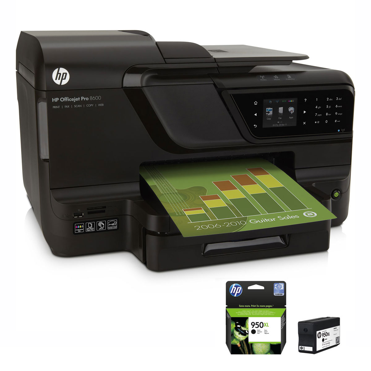 hp officejet pro 8600 cartouche hp 950 xl noire. Black Bedroom Furniture Sets. Home Design Ideas
