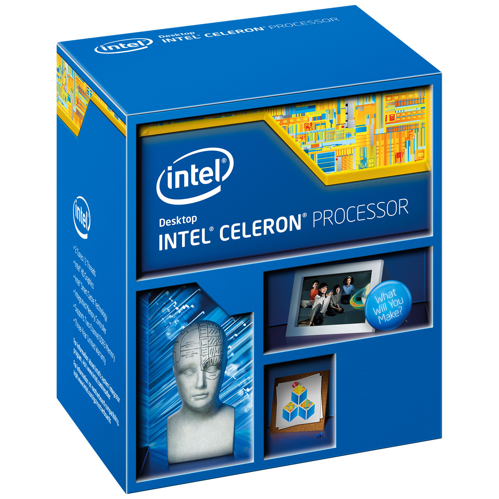 Processeur Intel Celeron G1850 (2.9 GHz) Processeur Dual Core Socket 1150 Cache L3 2 Mo Intel HD Graphics 0.022 micron (version boîte - garantie Intel 3 ans)