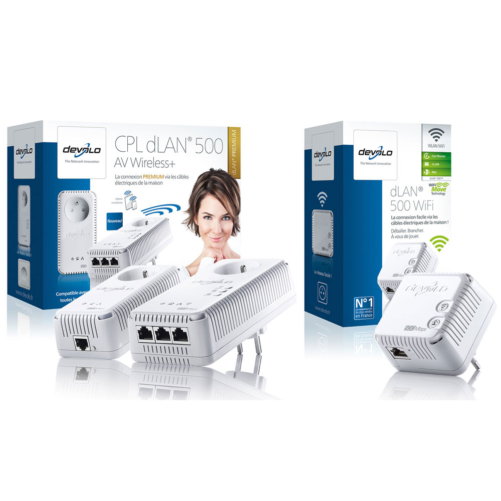 devolo dlan 500 av wireless starter kit devolo dlan 500 wi fi cpl devolo ag sur. Black Bedroom Furniture Sets. Home Design Ideas