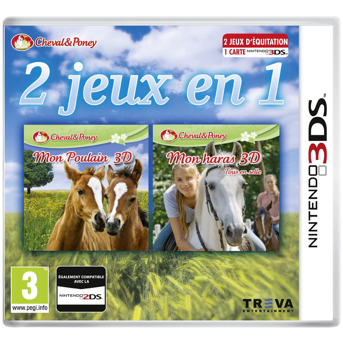 2 jeux en 1 mon poulain 3d mon haras 3d nintendo 3ds 2ds jeux nintendo 3ds koch media. Black Bedroom Furniture Sets. Home Design Ideas