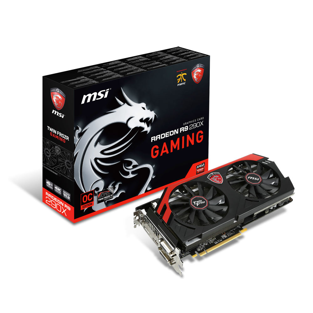 Carte graphique MSI Radeon R9 290X GAMING 4G 4 Go Dual DVI/HDMI/DisplayPort - PCI Express (AMD Radeon R9 290X)