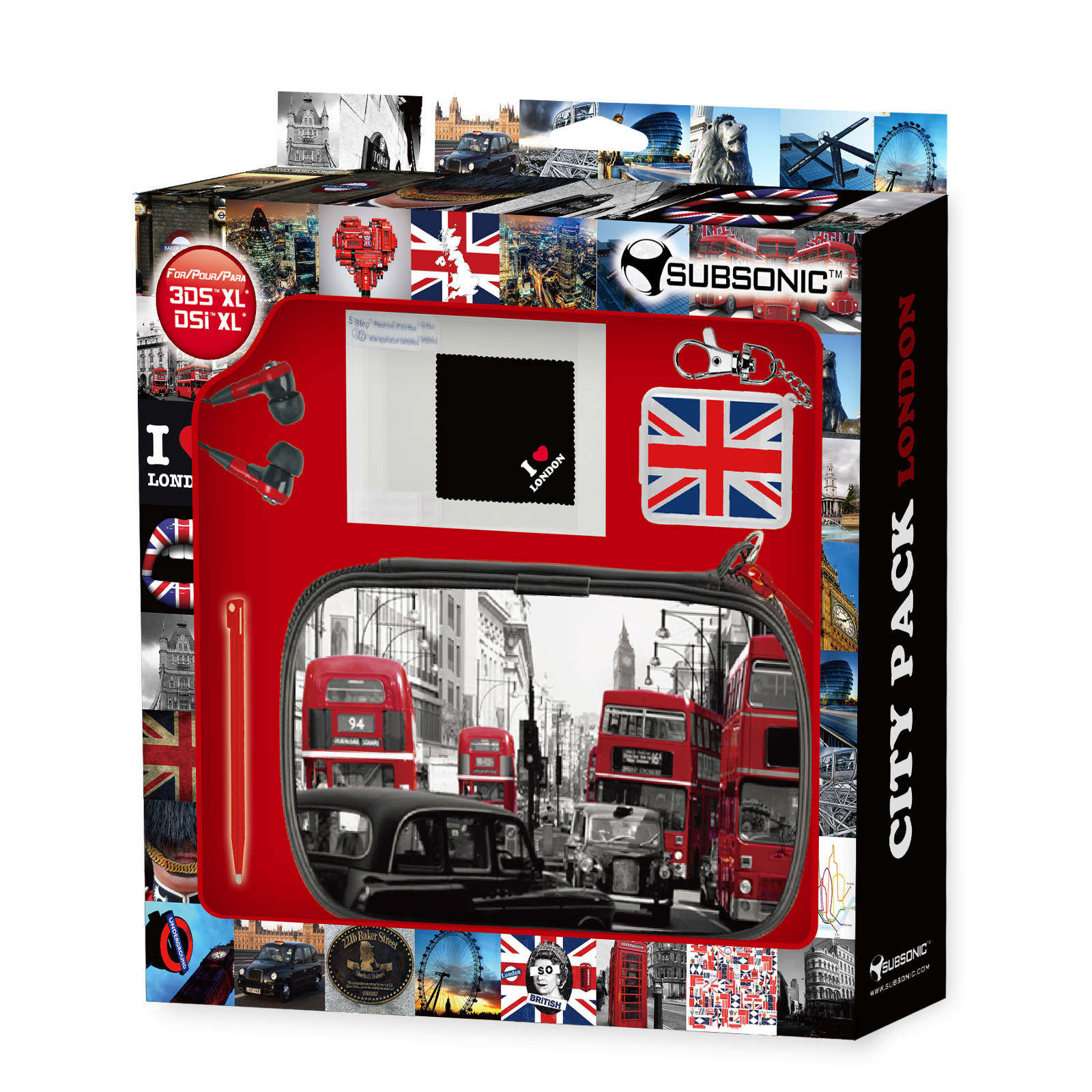 Subsonic london city pack xl nintendo 3ds xl et dsi xl for Housse 2ds bigben