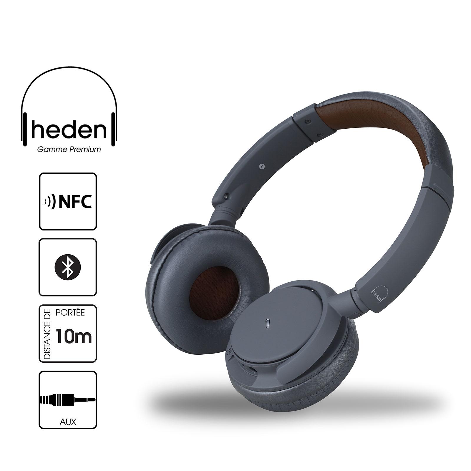 Casque Heden Premium Noir Casque circum-auriculaire Bluetooth NFC avec microphone