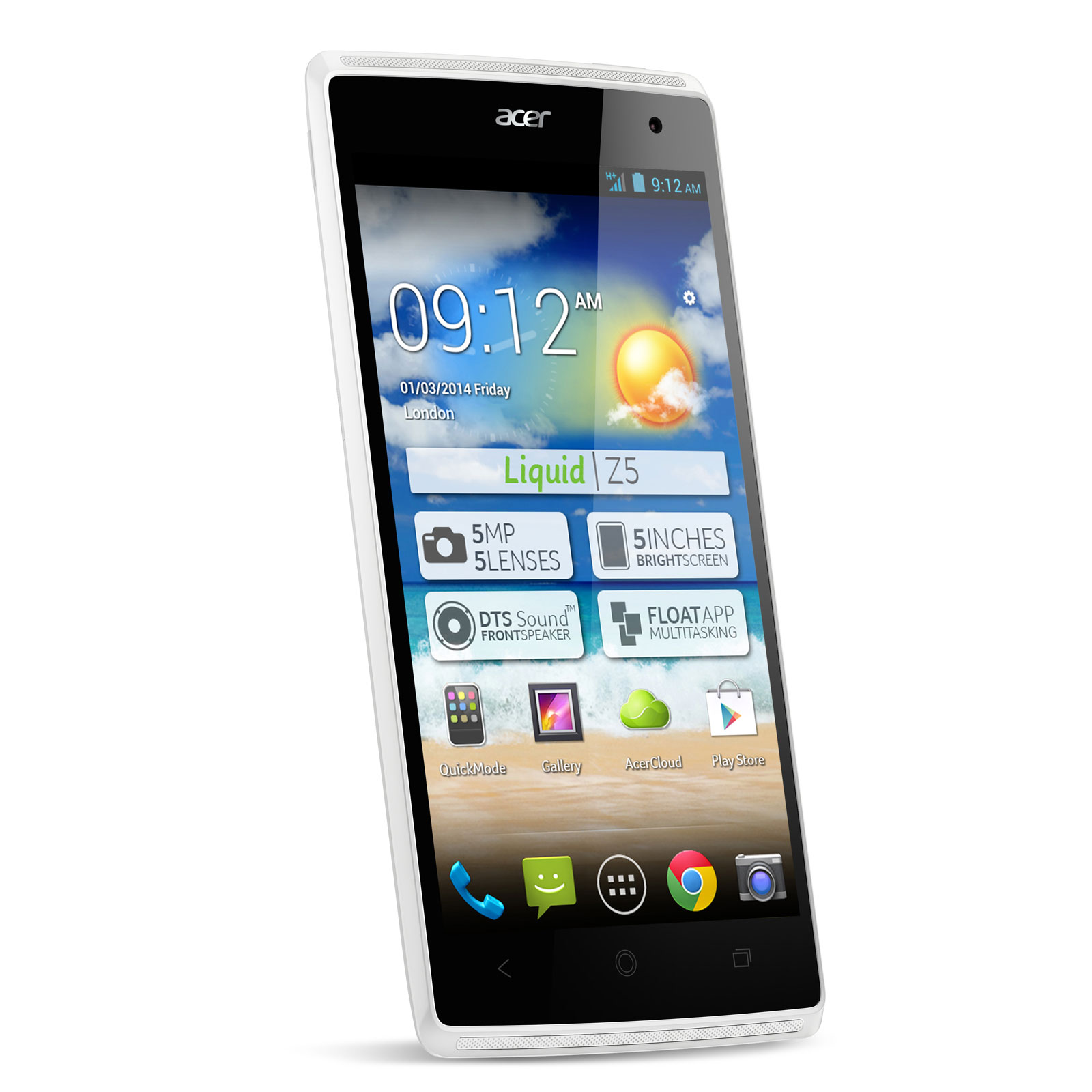 acer liquid z5 duo blanc mobile smartphone acer sur. Black Bedroom Furniture Sets. Home Design Ideas