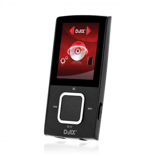 """Lecteur MP3 & iPod D-Jix M340 8 Go Noir Lecteur MP3 8 Go - Ecran 1.8"""" - Micro SD"""