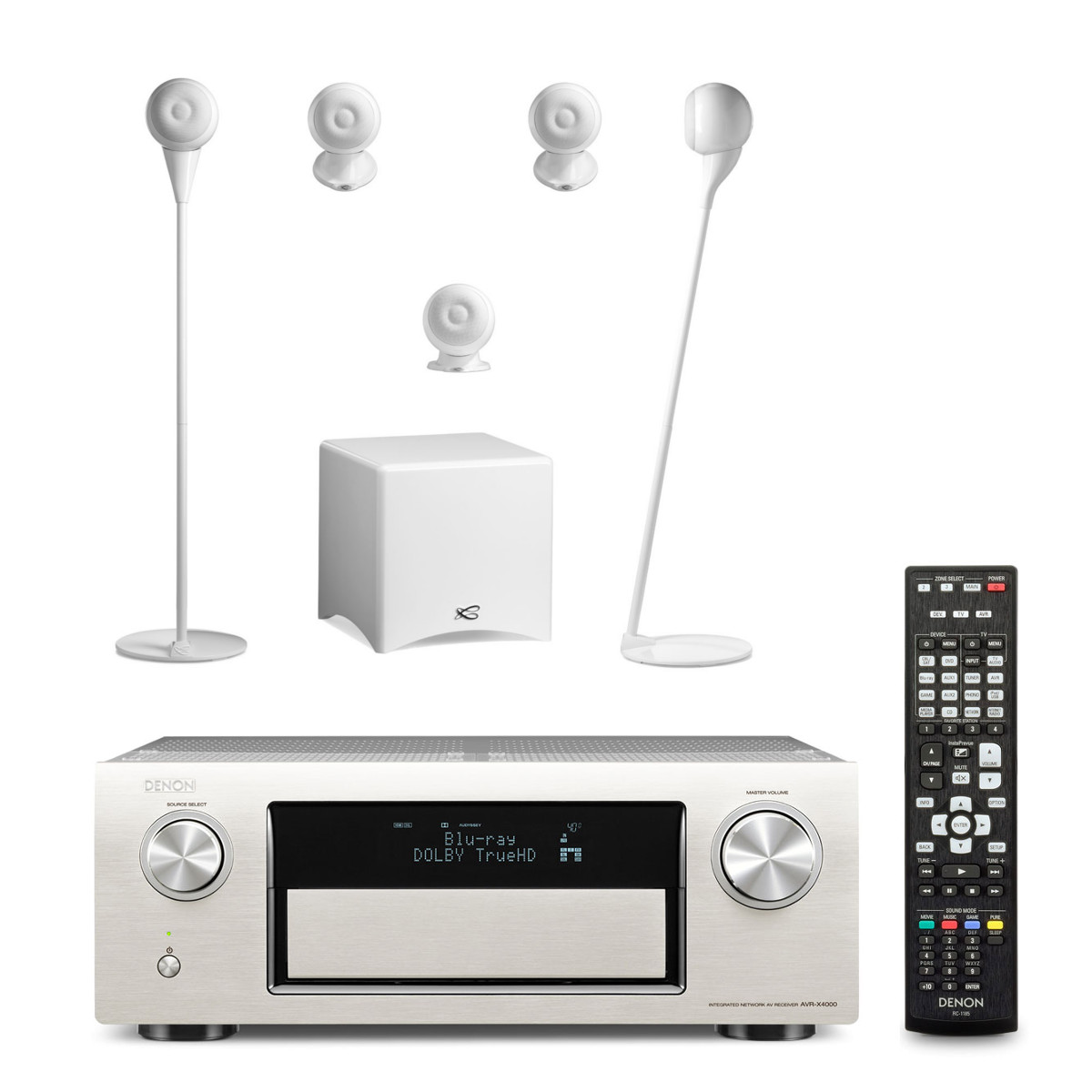 denon avr x4000 silver cabasse pack eole 3 5 1 blanc. Black Bedroom Furniture Sets. Home Design Ideas