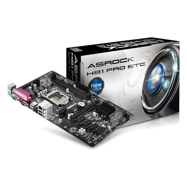 Carte mère ASRock H81 Pro BTC Carte mère ATX Socket 1150 Intel H81 Express - SATA 3Gb/s + SATA 6Gb/s - USB 3.0 - 1x PCI-Express 2.0 16x