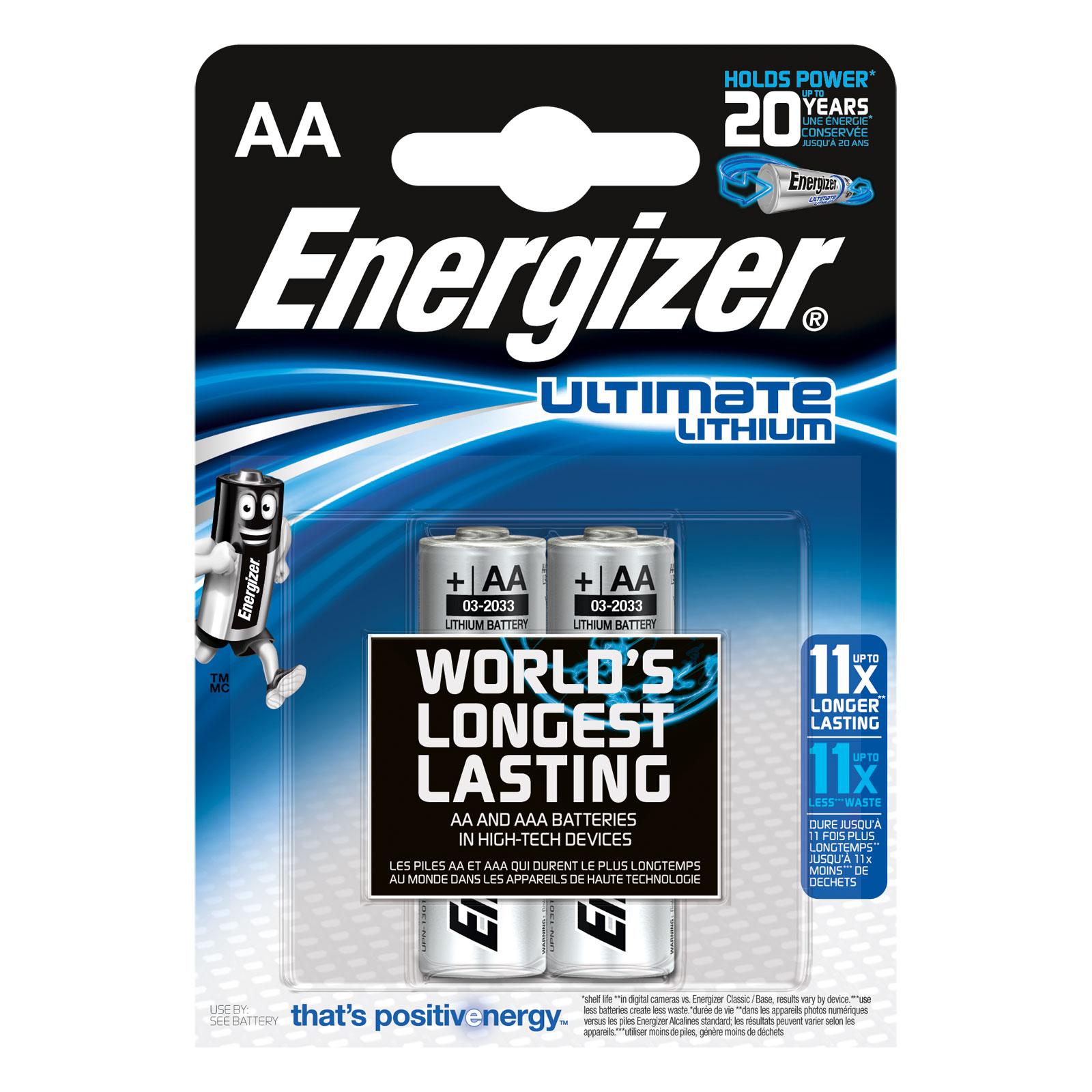 energizer lithium 2 piles aa lr6 pile chargeur energizer sur. Black Bedroom Furniture Sets. Home Design Ideas
