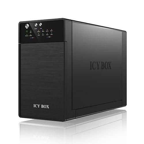 """Boîtier disque dur ICY BOX IB-RD3620SU3 Système RAID pour 2 disques durs SATA 3.5"""""""