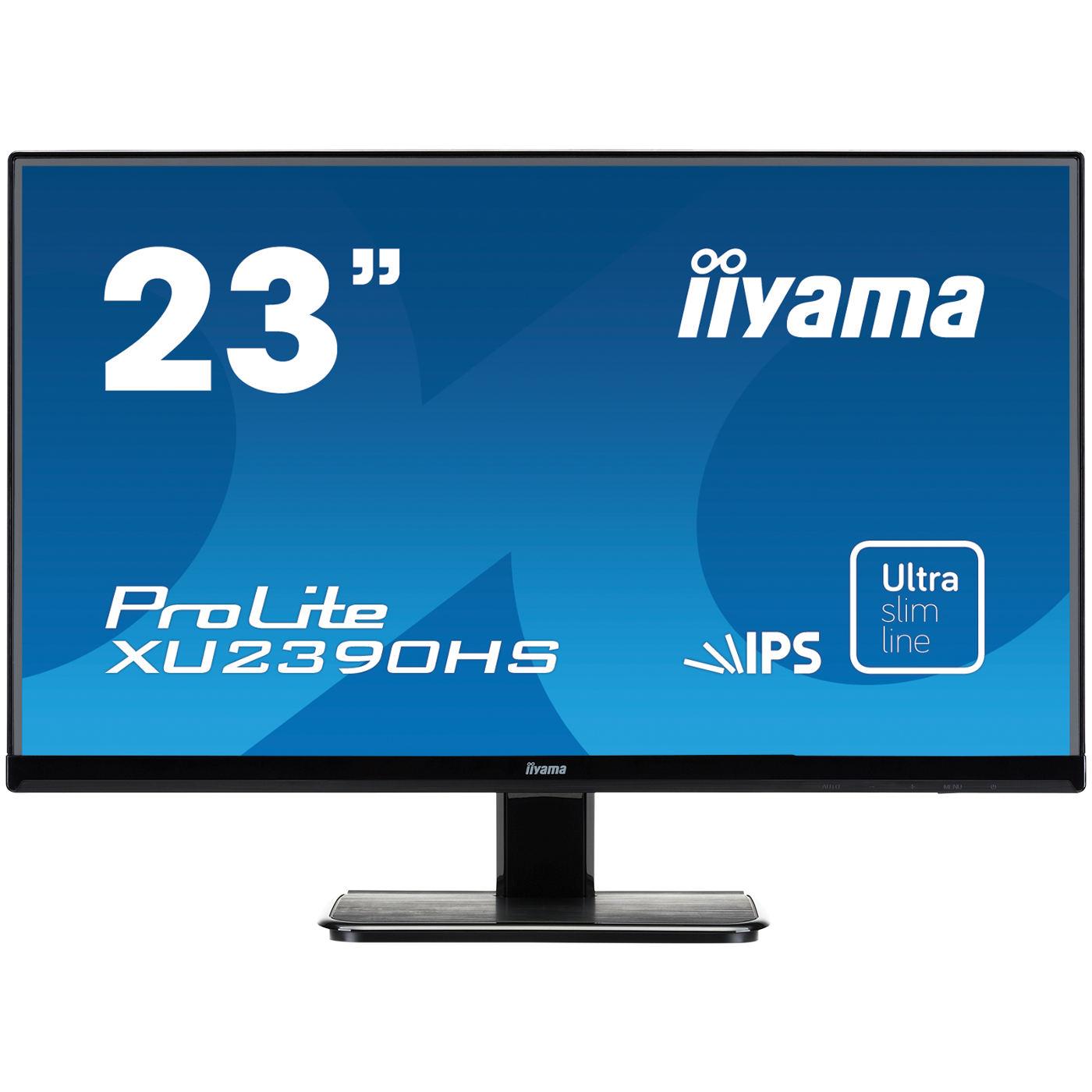 "Ecran PC iiyama 23"" LED - ProLite XU2390HS-1 1920 x 1080 pixels - 5 ms - Format large 16/9 - Dalle IPS - HDMI - Noir"