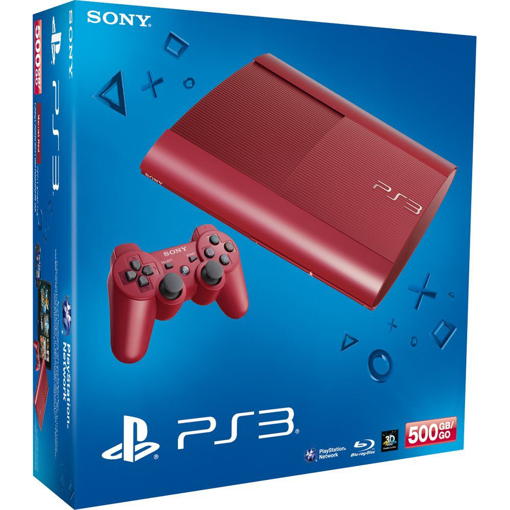sony playstation 3 ultra slim rouge sony interactive entertainment sur. Black Bedroom Furniture Sets. Home Design Ideas