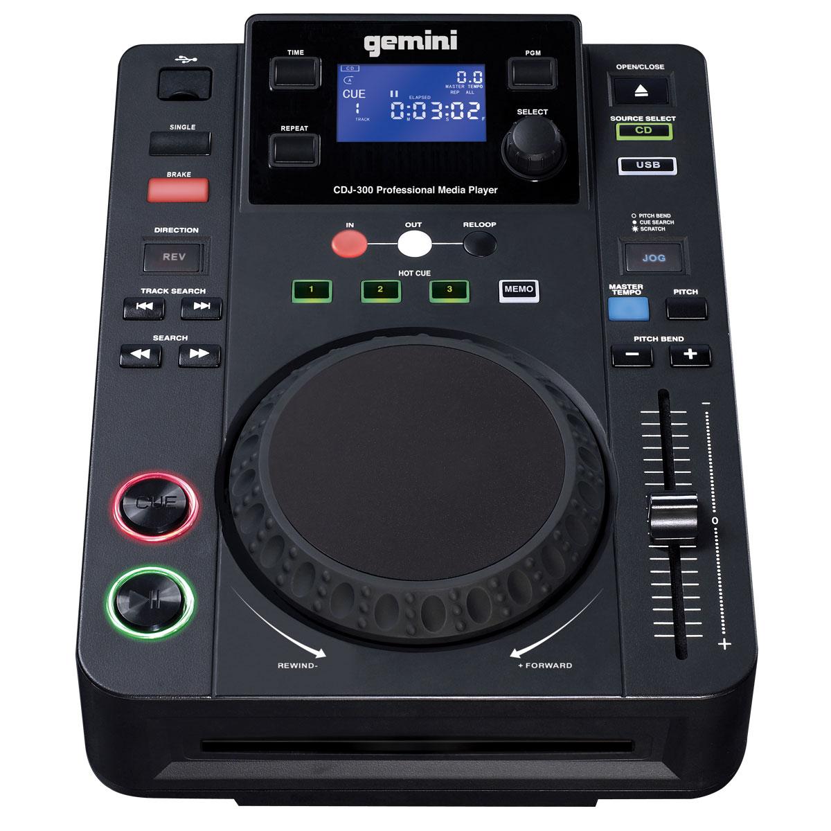 Gemini cdj 300 table de mixage gemini sur - Table de mixage professionnel ...