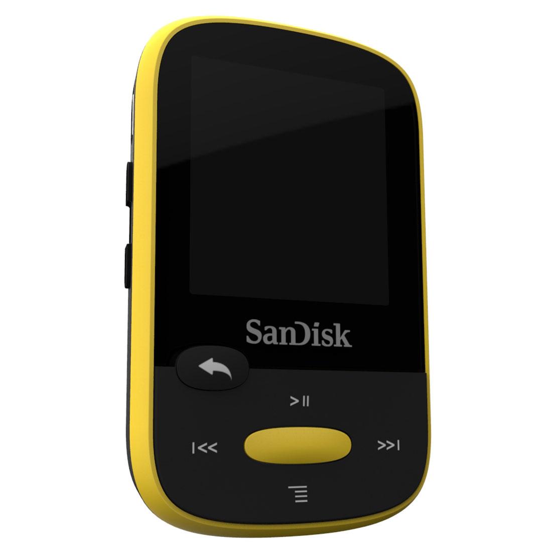 sandisk clip sport jaune 8 go lecteur mp3 ipod sandisk sur. Black Bedroom Furniture Sets. Home Design Ideas
