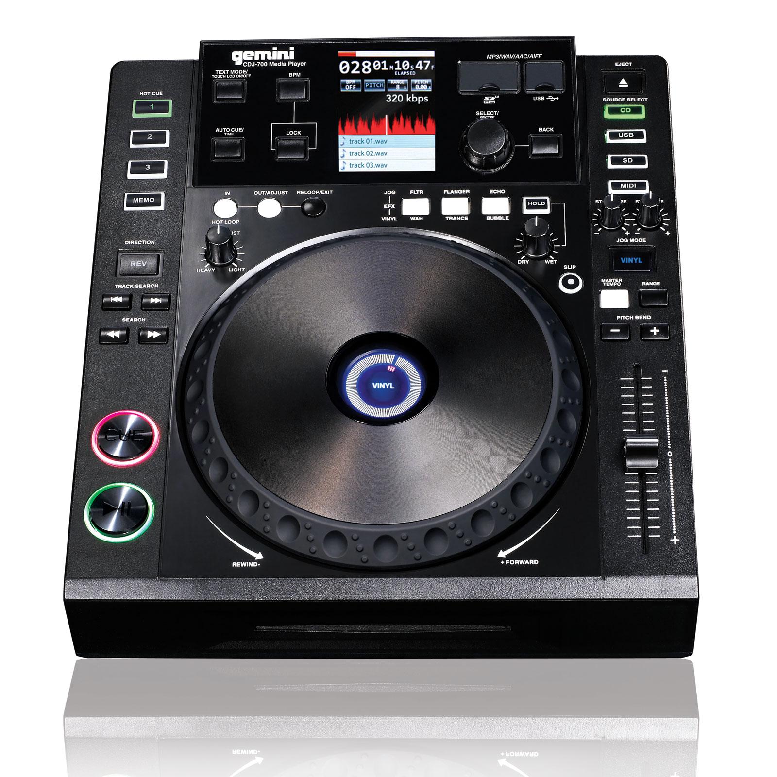 Gemini cdj 700 table de mixage gemini sur - Table de mixage professionnel ...