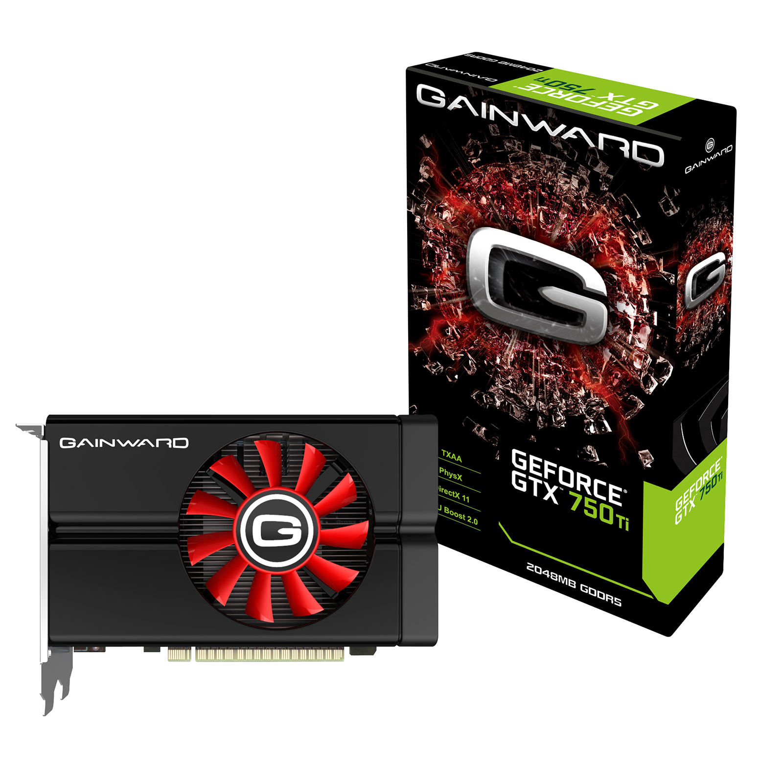 Carte graphique Gainward GeForce GTX 750 Ti 2GB 2048 Mo Dual DVI/Mini-HDMI - PCI Express (NVIDIA GeForce avec CUDA GTX 750 Ti)