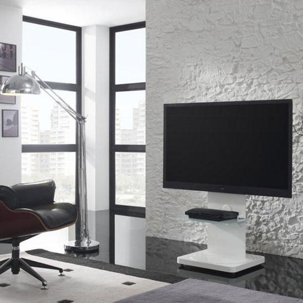 gisan fs101bl blanc meuble tv gisan sur. Black Bedroom Furniture Sets. Home Design Ideas