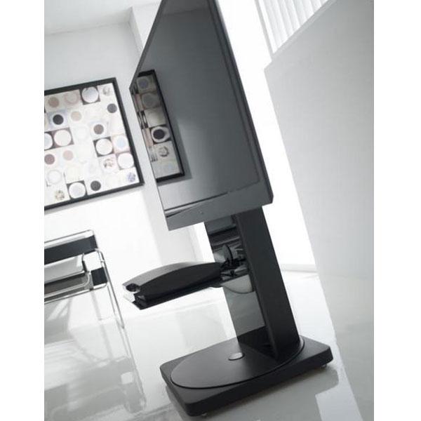 Gisan fs101ne noir meuble tv gisan sur for Meuble mural gisan