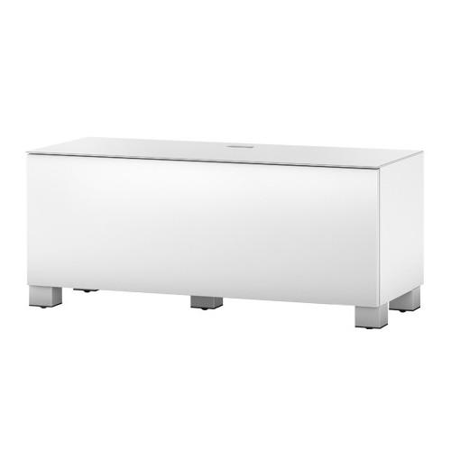 Sonorous st110 blanc meuble tv sonorous sur for Meuble tv haut avec rangement