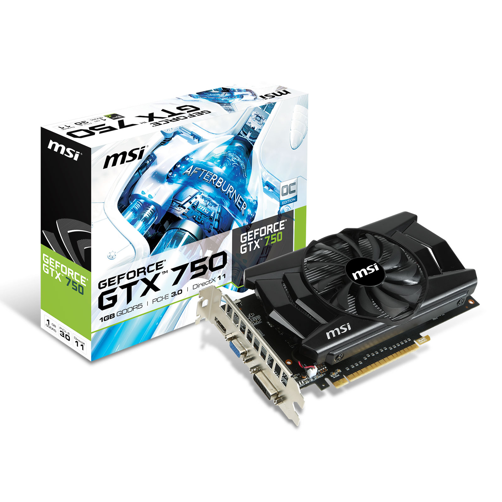 msi geforce gtx 750 oc 1gb carte graphique msi sur. Black Bedroom Furniture Sets. Home Design Ideas