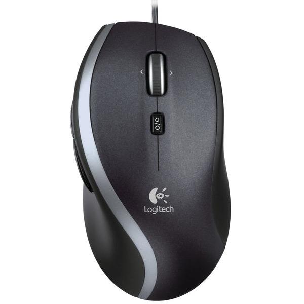 Souris PC Logitech Corded Mouse M500 Refresh Souris filaire - droitier - capteur laser 1000 dpi - 7 boutons