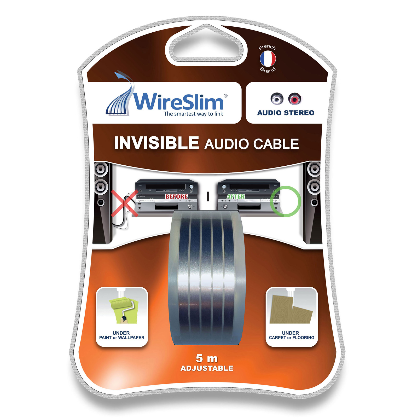 Wireslim Invisible Audio Cable 5 M 232 Tres C 226 Ble Audio