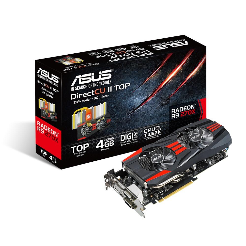 Carte graphique ASUS Radeon R9 270X R9270X-DC2T-4GD5 4 Go Dual DVI/HDMI/DisplayPort - PCI Express (AMD Radeon R9 270X)