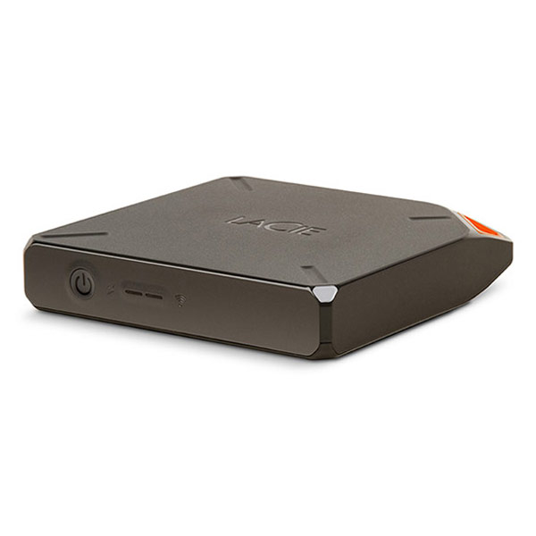 Disque dur externe LaCie Fuel 2 To Disque dur externe sans fil et autonome pour ordinateur, portable, tablette et smartphone (compatible Windows, Mac, iOS, Android et Kindle)