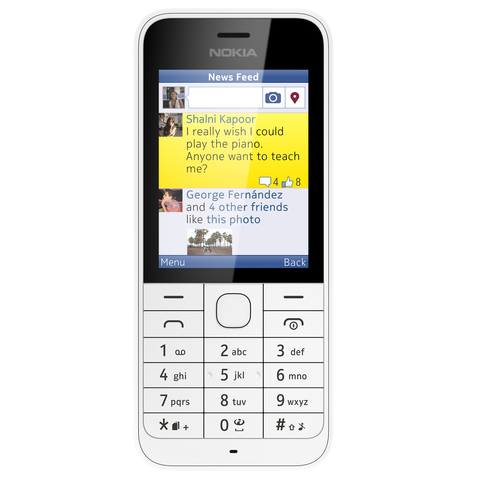 nokia 220 dual sim blanc mobile smartphone nokia sur. Black Bedroom Furniture Sets. Home Design Ideas