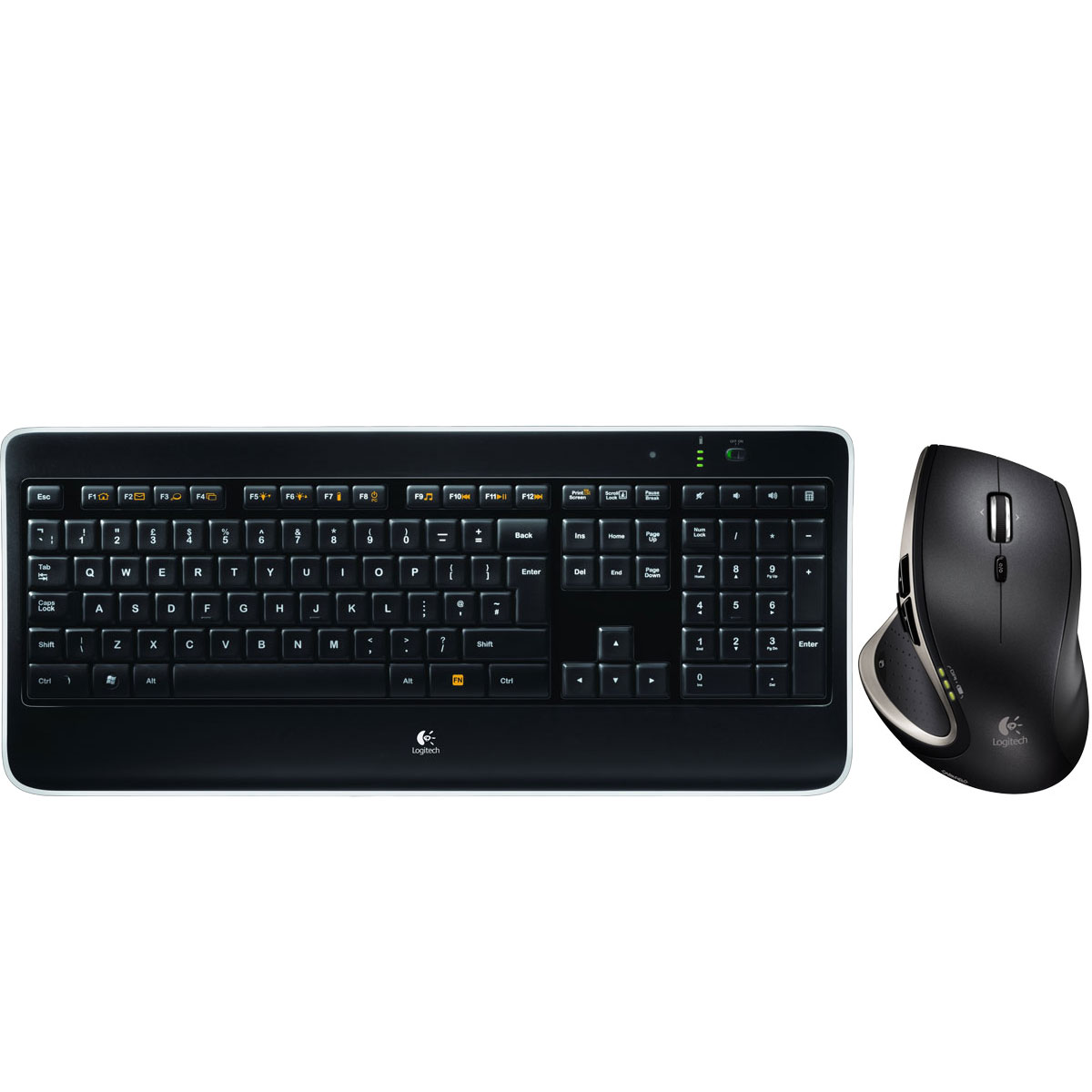 Pack clavier souris Logitech Wireless Performance Combo MX800 Ensemble sans fil souris + clavier avec rétro-éclairage (AZERTY Français)