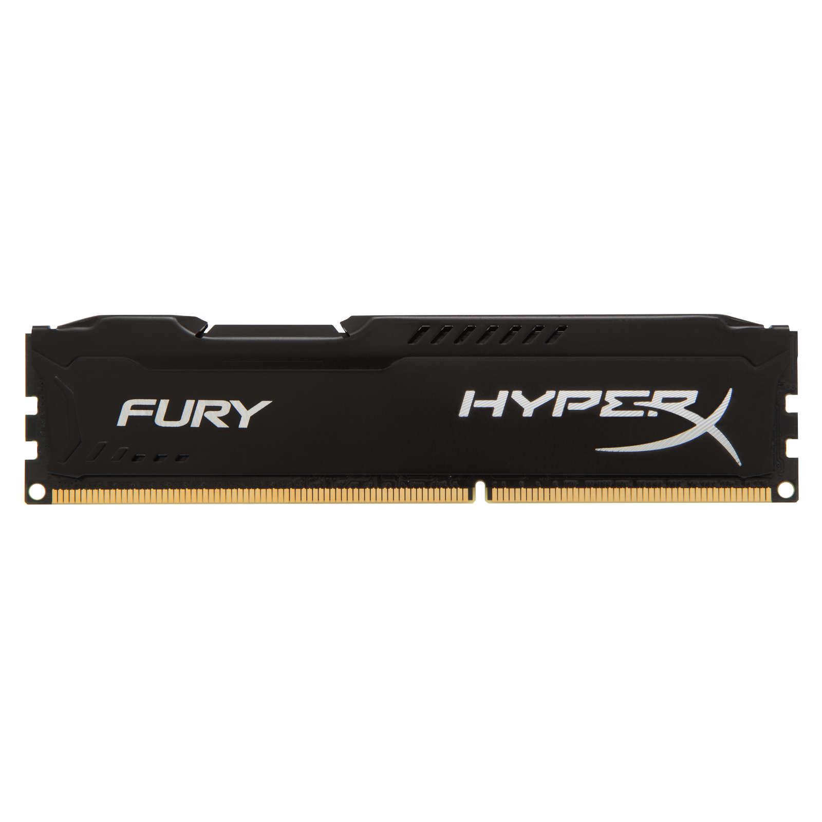 Mémoire PC HyperX Fury 8 Go DDR3 1600 MHz CL10 RAM DDR3 PC12800 - HX316C10FB/8 (garantie à vie par Kingston)