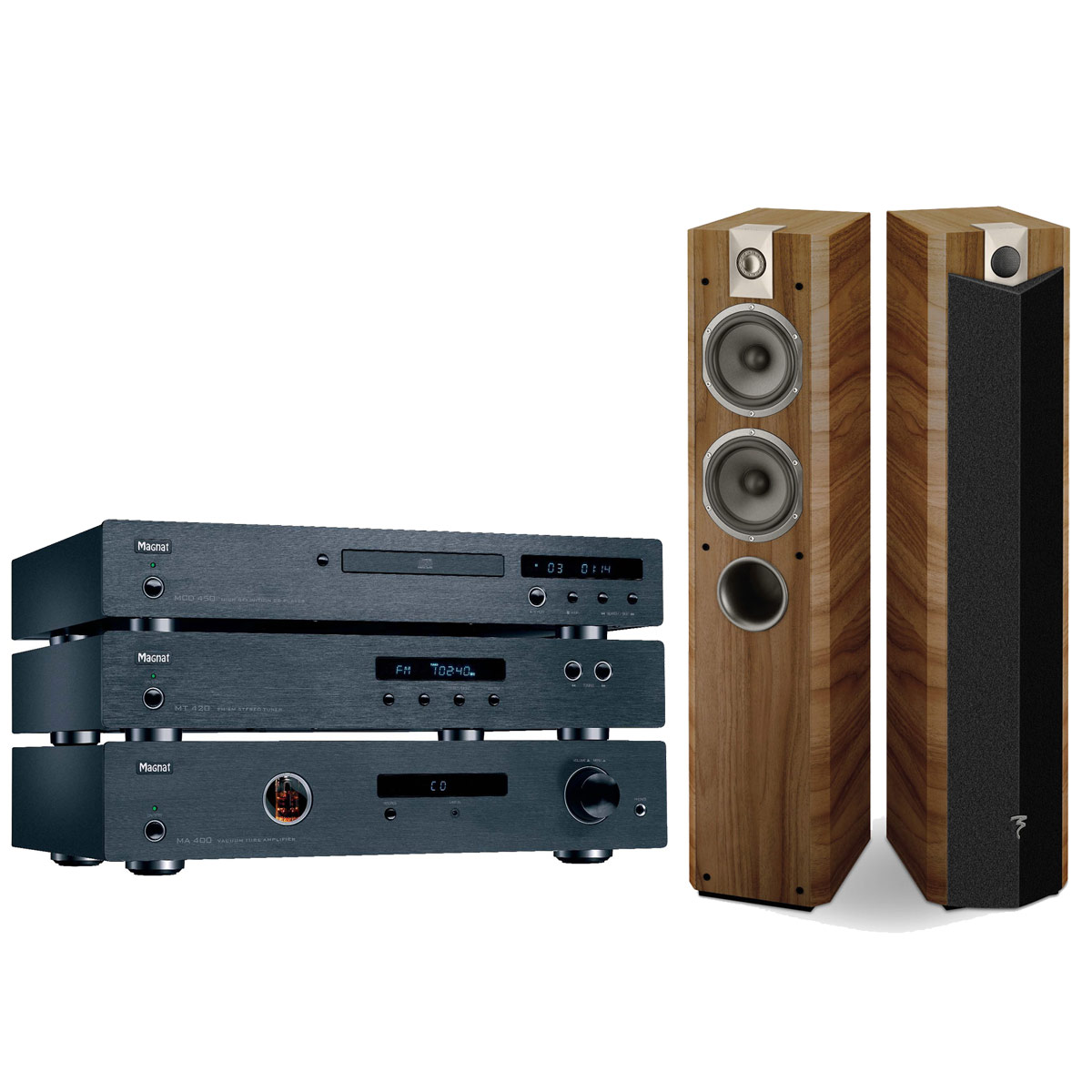 magnat music system 400 focal chorus 714 v cigar par. Black Bedroom Furniture Sets. Home Design Ideas