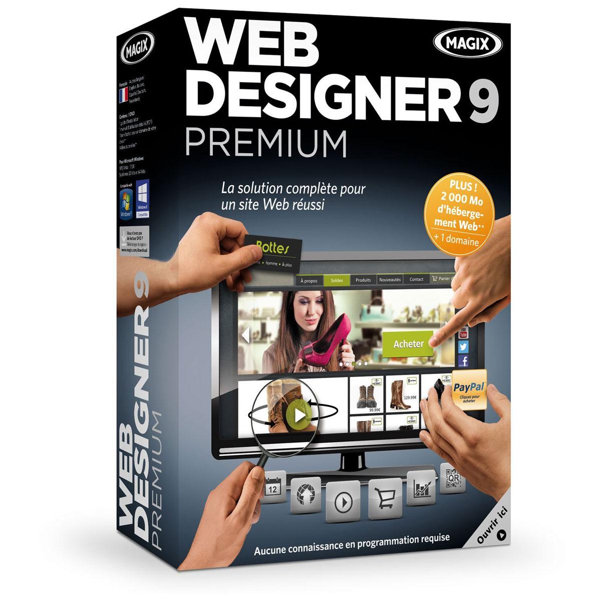 magix web designer 9 premium magix sur. Black Bedroom Furniture Sets. Home Design Ideas