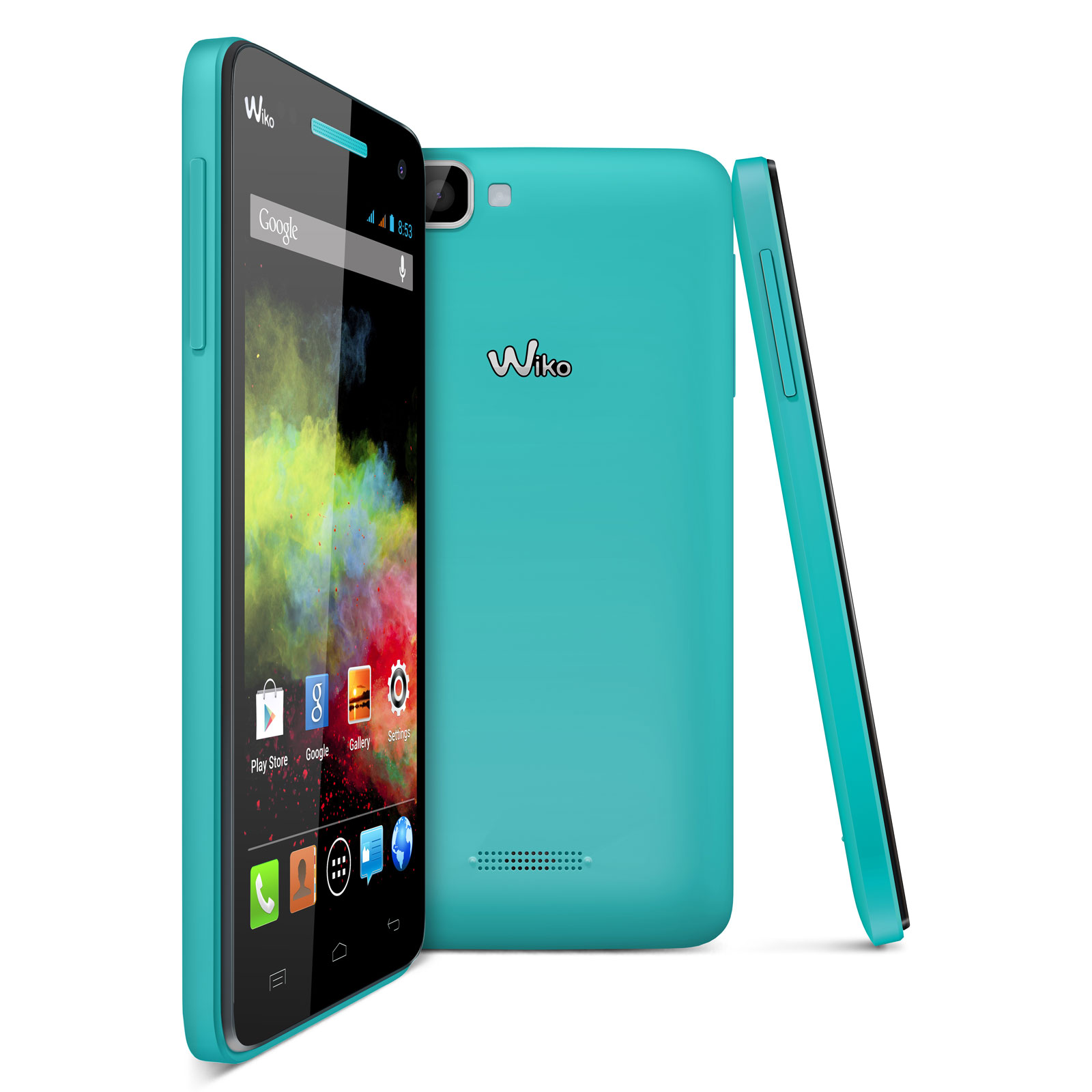 wiko rainbow turquoise mobile smartphone wiko sur. Black Bedroom Furniture Sets. Home Design Ideas