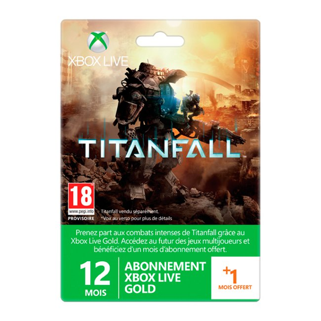 microsoft xbox live gold membership card titanfall edition. Black Bedroom Furniture Sets. Home Design Ideas