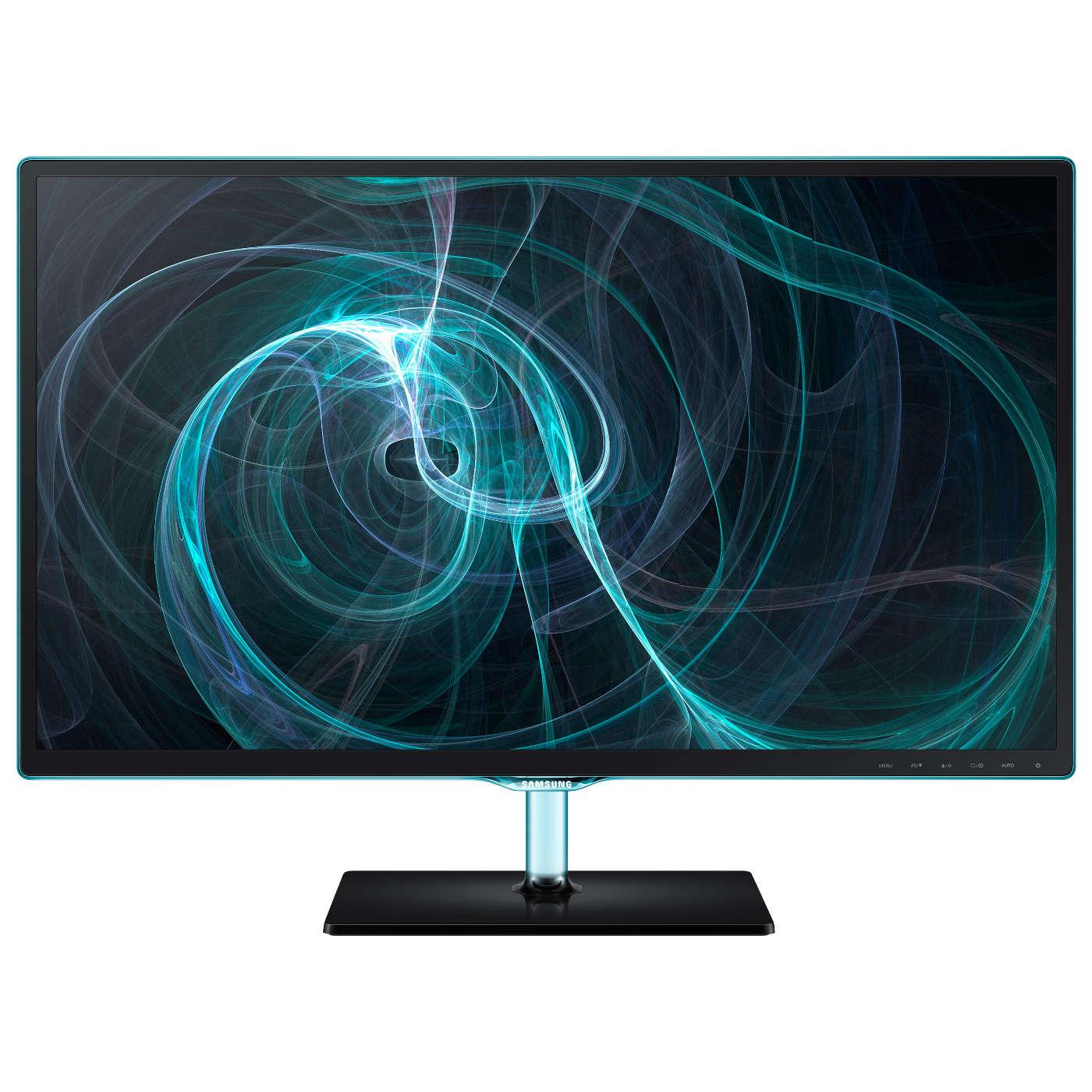 """Ecran PC Samsung 23.6"""" LED - SyncMaster S24D390HL 1920 x 1080 pixels - 5 ms (gris à gris) - Format large 16/9 - Dalle PLS -  Noir/Bleu (garantie constructeur 3 ans)"""