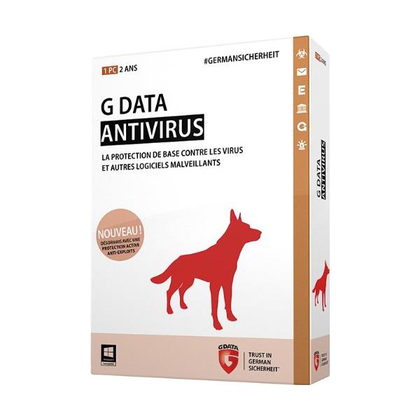 Logiciel antivirus G Data AntiVirus 2015 - Licence 2 ans 1 poste Antivirus - Licence 2 ans 1 poste (français, WINDOWS)