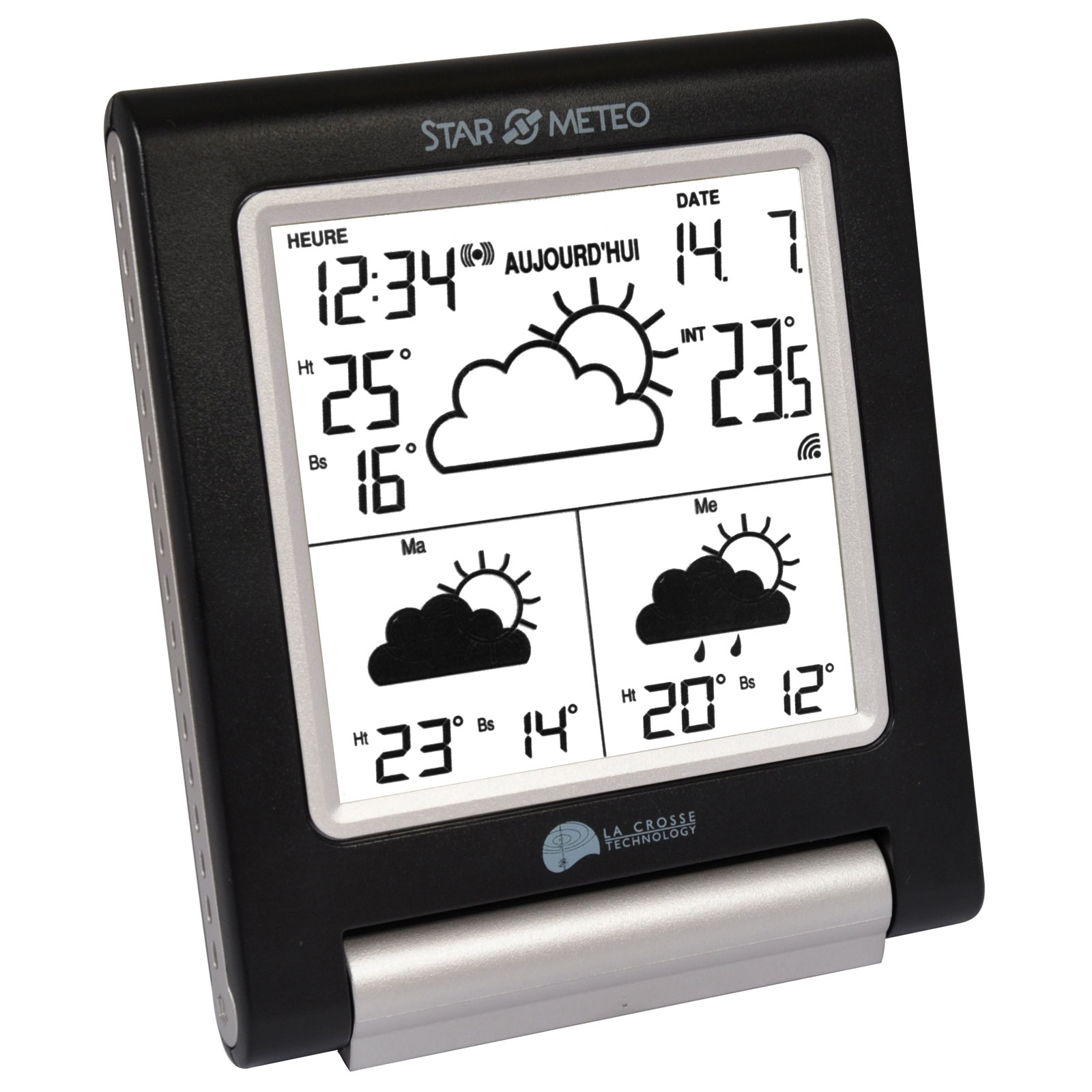 La crosse technology wd1201 noir version fran aise for Station meteo avec sonde piscine