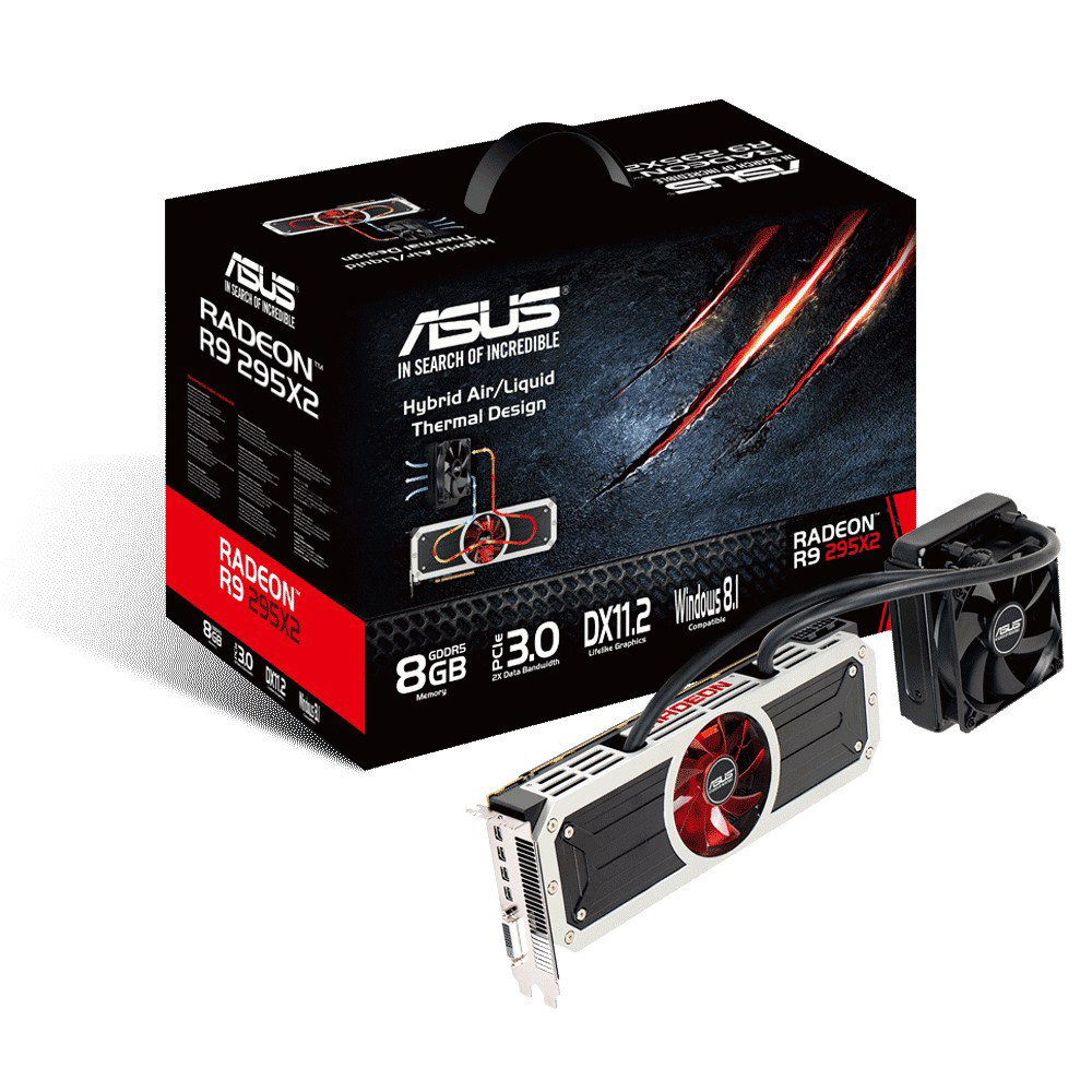 Carte graphique ASUS Radeon R9 295X2 R9295X2-8GD5 8 Go DVI/Quad Mini-DisplayPort - PCI Express (AMD Radeon R9 295X2)