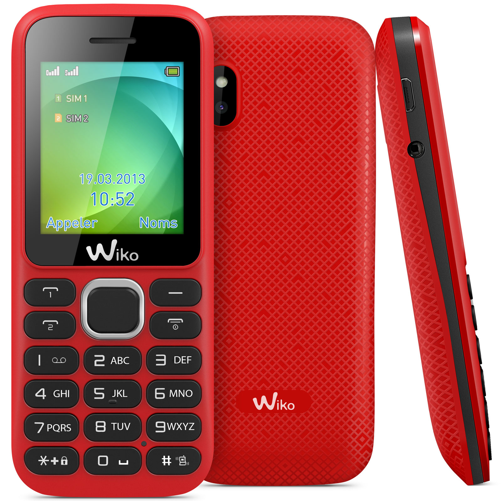 wiko lubi 3 rouge mobile smartphone wiko sur. Black Bedroom Furniture Sets. Home Design Ideas