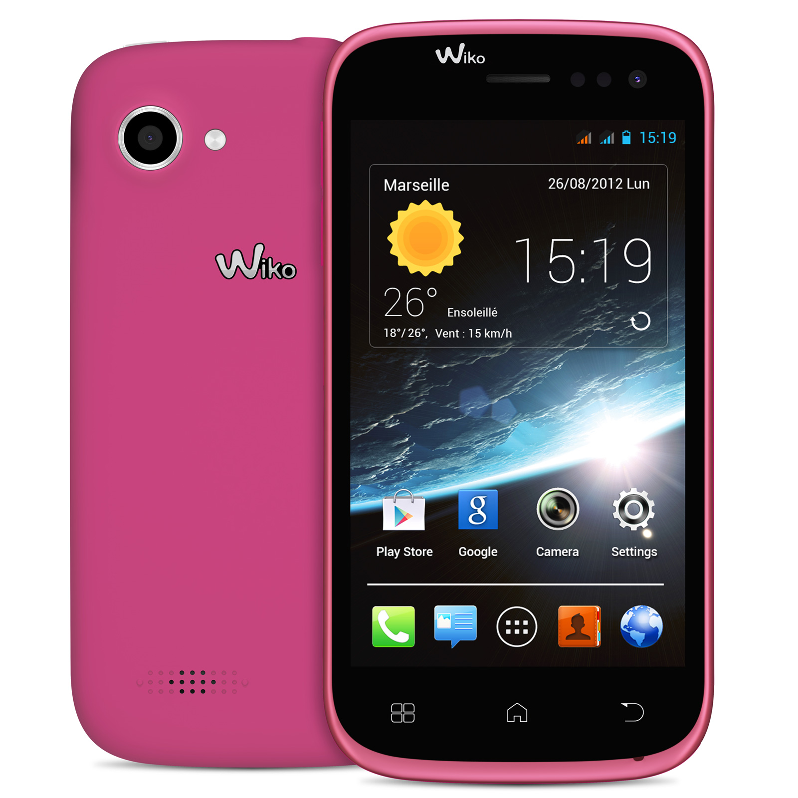 wiko cink slim 2 rose mobile smartphone wiko sur. Black Bedroom Furniture Sets. Home Design Ideas