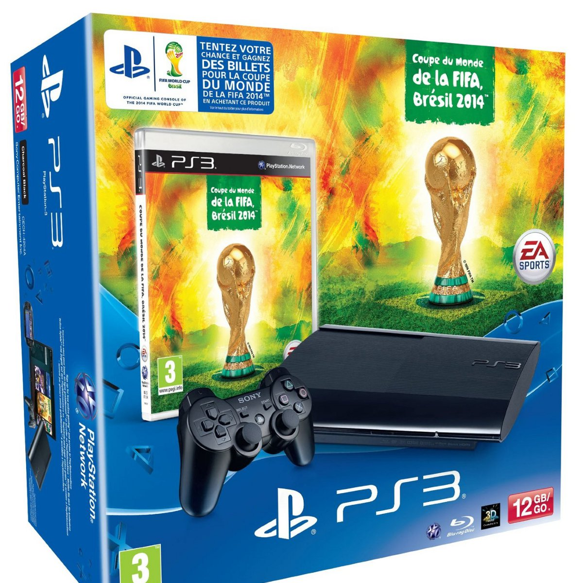 Sony playstation 3 ultra slim coupe du monde de la fifa br sil 2014 sony - Coupe du monde 2014 jeux ...