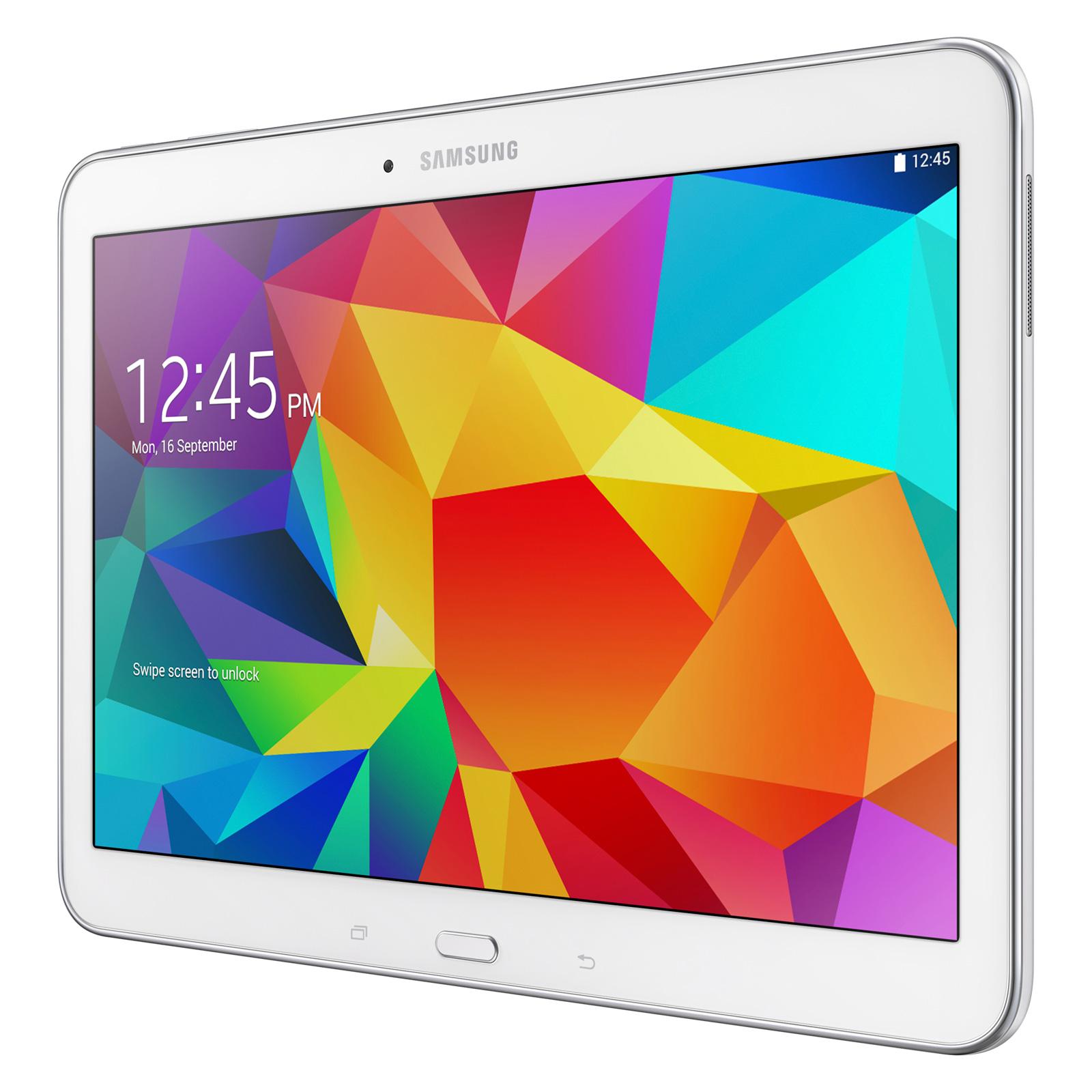 samsung galaxy tab 4 10 1 sm t530 16 go blanc tablette. Black Bedroom Furniture Sets. Home Design Ideas