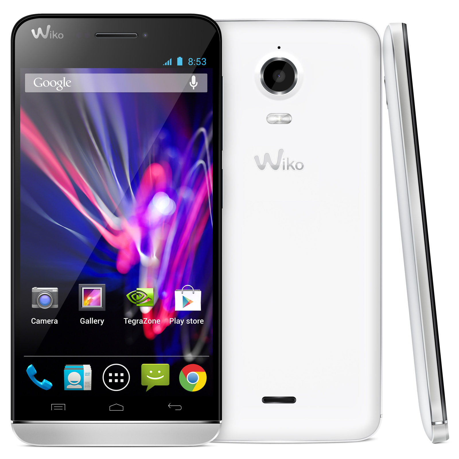 Wiko wax blanc mobile smartphone wiko sur for Photo ecran android 7