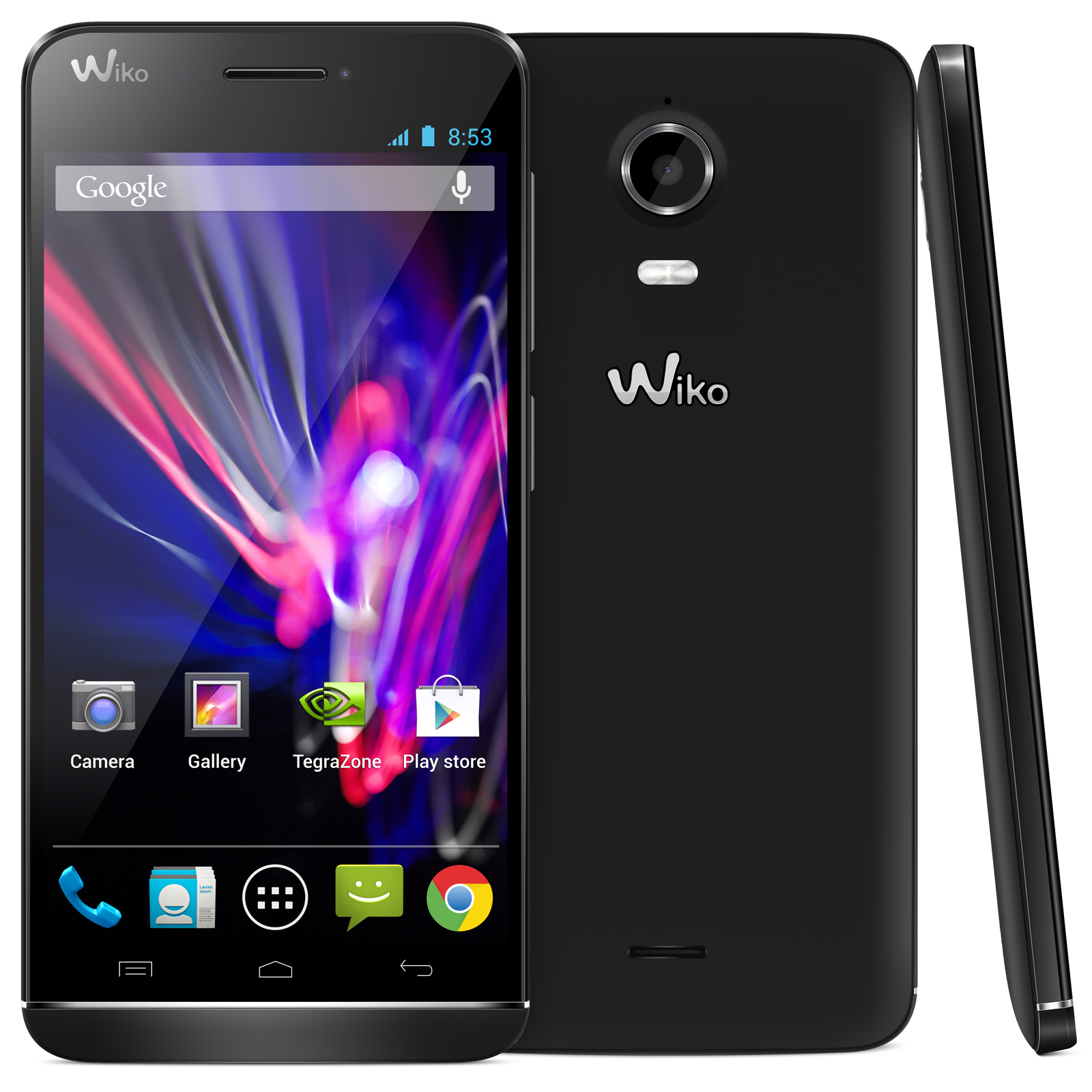 wiko wax noir mobile smartphone wiko sur. Black Bedroom Furniture Sets. Home Design Ideas