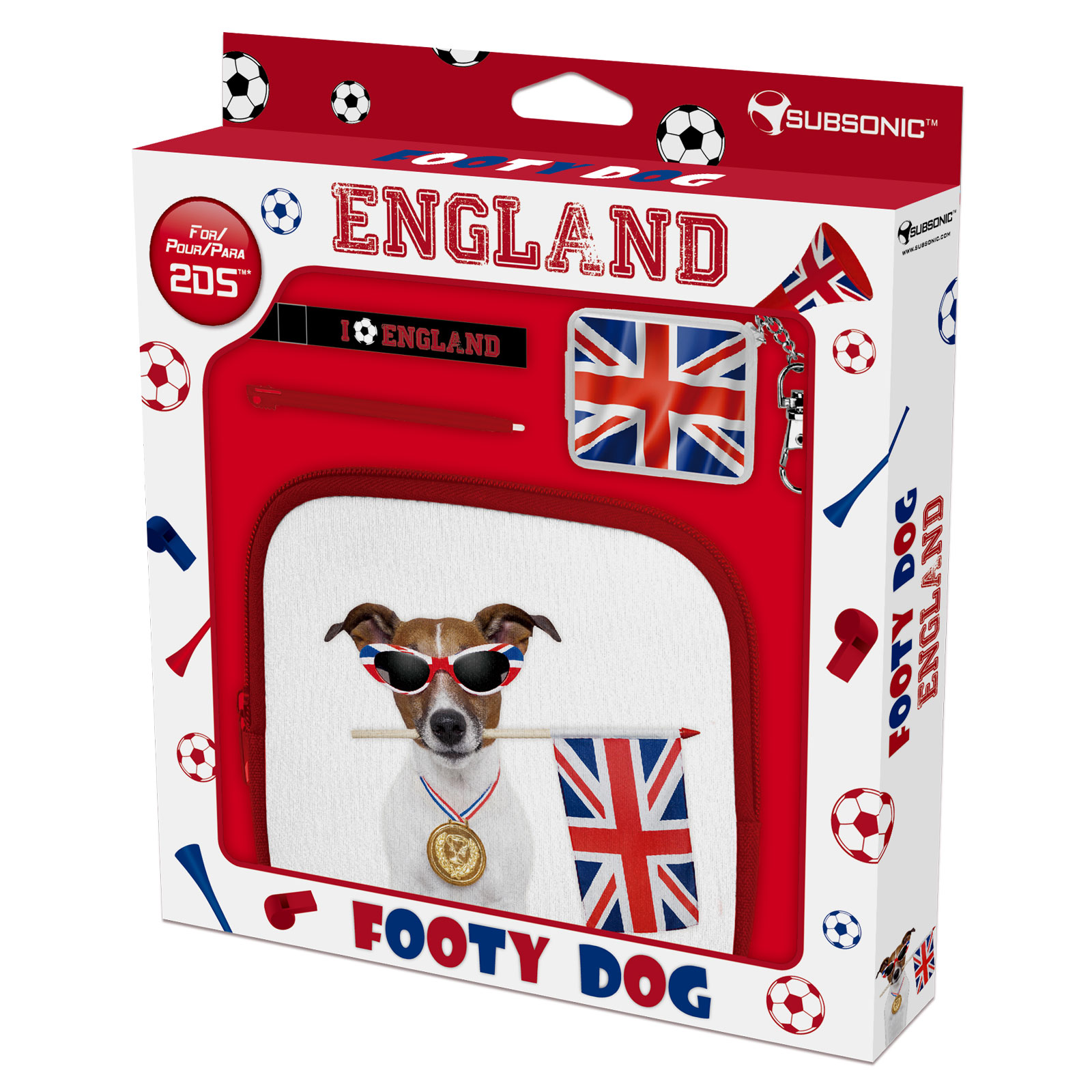 Subsonic Footy Dog England Nintendo 2ds Accessoires Ds