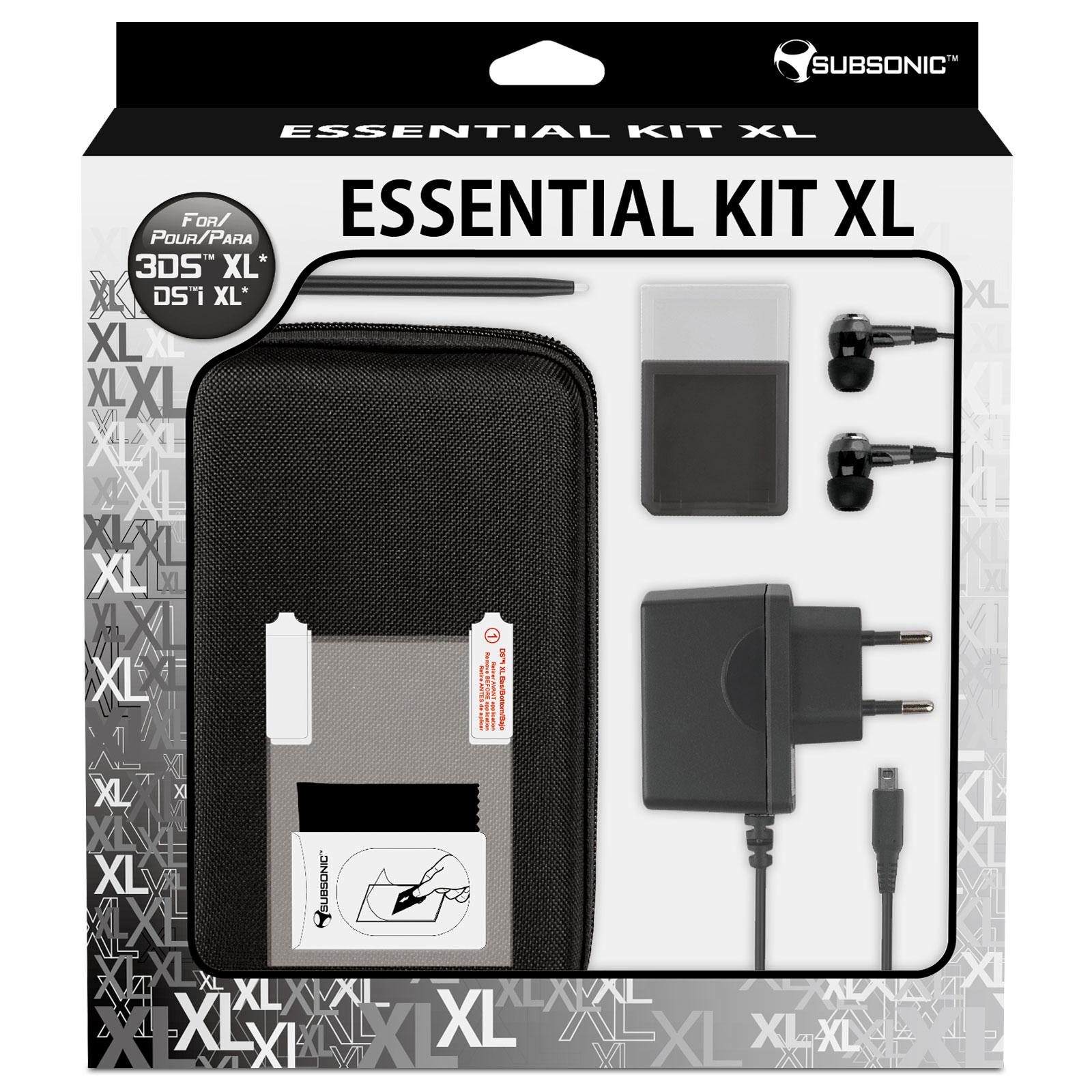 Subsonic essential kit xl noir nintendo 3ds xl et dsi xl for Ecran noir appareil photo 3ds