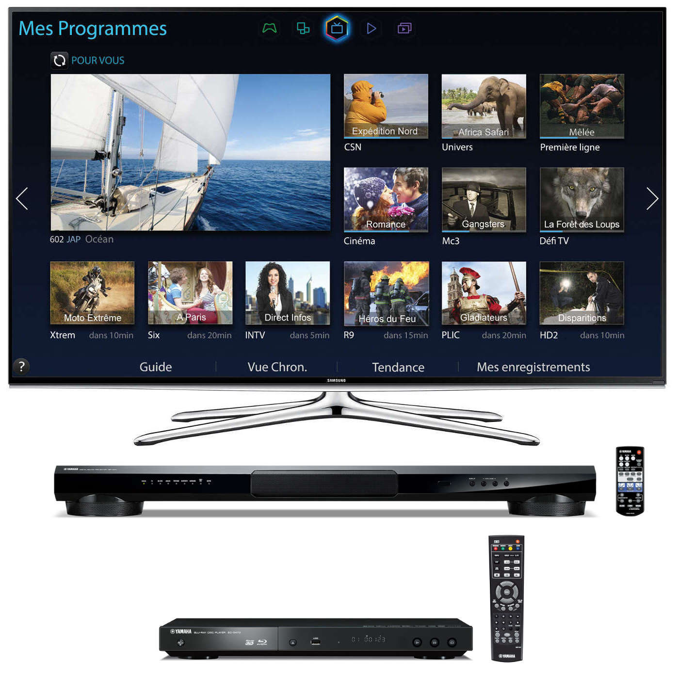 samsung ue55h6200 lecteur blu ray yamaha bd s473 barre. Black Bedroom Furniture Sets. Home Design Ideas